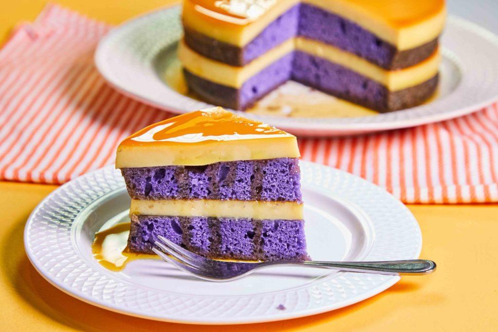 Ube Leche Flan Cake New Gen Baker