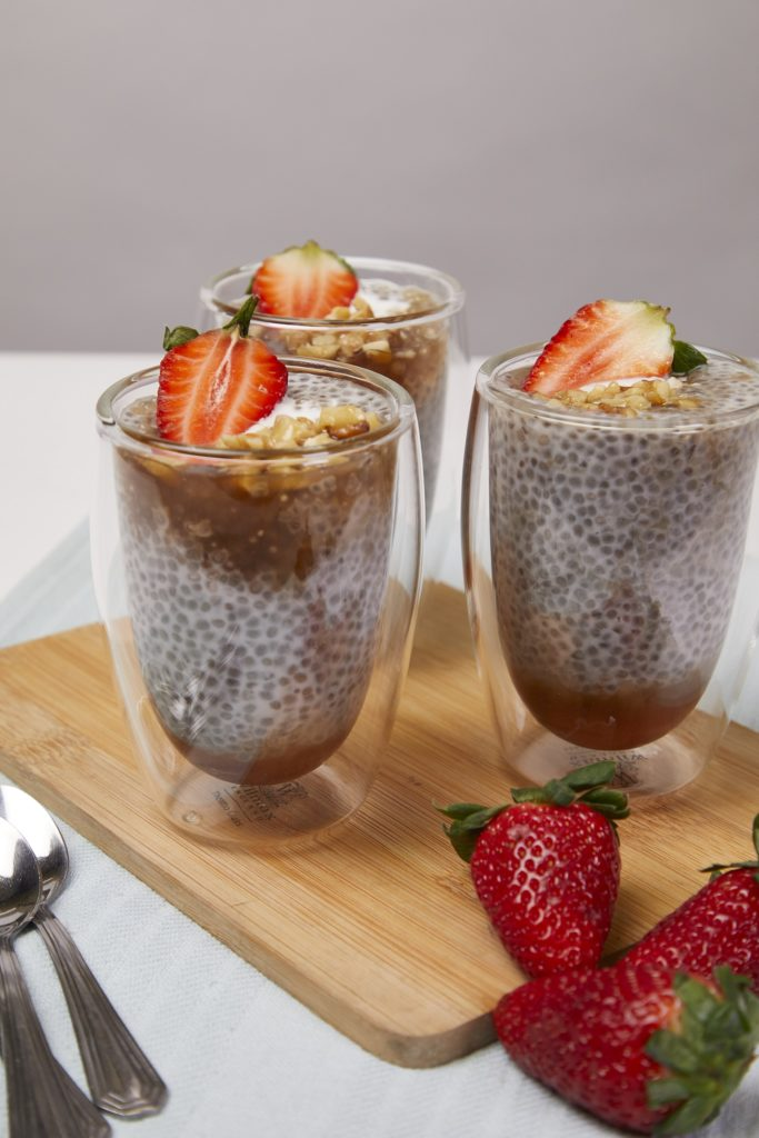 Chia-Tapioca Pudding with Agave Syrup